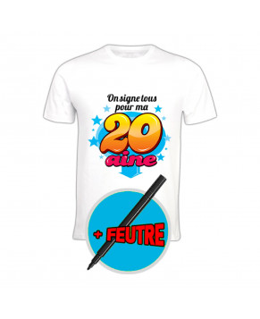 T SHIRT STYLO SIGNE 20 AINE/