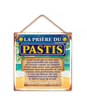 PLAQUE METAL PASTIS