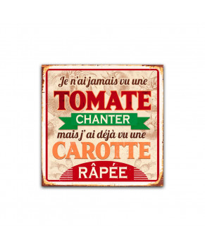 PLAQUE METAL TOMATE