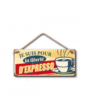 PLAQUE METAL EXPRESSO