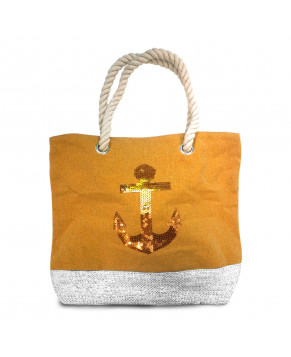 SAC SEQUIN MOUTARDE ANCRE
