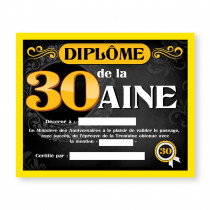 CADRE DIPLOME 30AINE H