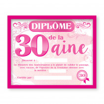 CADRE DIPLOME 30AINE F