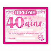 CADRE DIPLOME 40AINE F