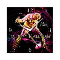 HORLOGE TOILE JOHNNY HALLYDAY