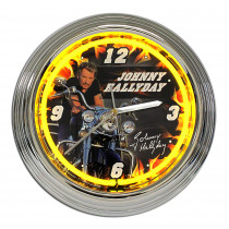 HORLOGE NEON JOHNNY JAUNE