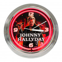HORLOGE NEON JOHNNY ROUGE