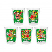 PACK 5 VERRE SHOOTER RASTA