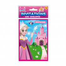 SACHET 6 INVITATION PRINCESSE