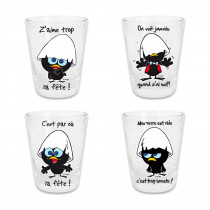 PACK 4VERRE SHOOTER CALIMERO
