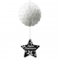 SUSPENSION BOULE PARTY CHIC -Ex : CD1234