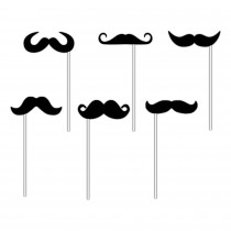 KIT PHOTOBOOTH 6PCS MOUSTACHE