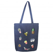 SAC SHOPPING JEAN PATCH