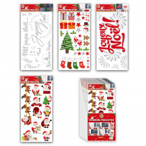 STICKER PAILLETTE NOEL A/BOX