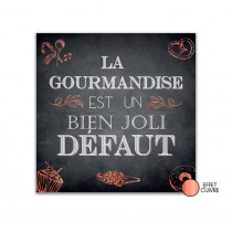 TOILE CITATION ARDOISE GOURMANDISE