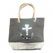 SAC SEQUIN GRIS ANCRE/