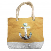 SAC SEQUIN BEIGE ANCRE