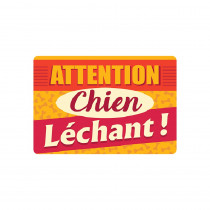 TAPIS GM ATTENTION CHIEN LECHANT