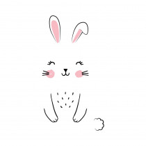 STICKER DE PORTE LAPIN