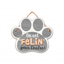 "PLAQUE FORME CHAT ""FELIN"""