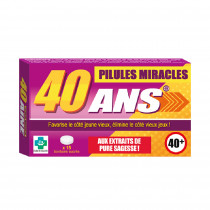 PILULES MIRACLES 40 ANS