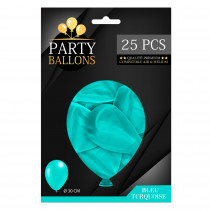 PACK 25 BALLONS TURQUOISE