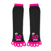 CHAUSSETTES ORTEILS 50AINE ROSE -Ex : B11143