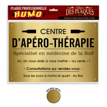 PLAQUE PROFESSIONNELLE APERO-THERAPIE