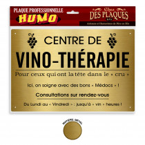 PLAQUE PROFESSIONNELLE VINO_THERAPIE
