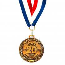 MEDAILLE D OR 20 AINE -Ex : B4783B