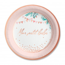 PACK 6 ASSIETTES BABY SHOWER FILLE
