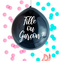 BALLON CONFETTIS BABY SHOWER REVELATION