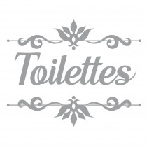 "STICKER PORTE ""TOILETTES""/"