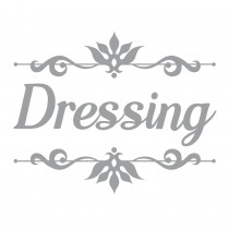 "STICKER PORTE ""DRESSING"""
