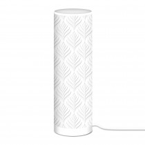 LAMPE CYLINDRIQUE 63CM BLANCHE
