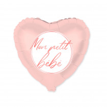 BALLON METAL COEUR BABY SHOWER FILLE