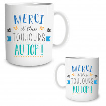 MUG MERCI AU TOP