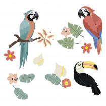 STICKER PERROQUETS TOUCAN
