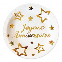 PACK 6 ASSIETTES PARTY CHIC OR