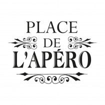 "STICKER ""PLACE DE L APERO"""