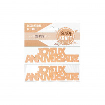 DUO DECO TABLE ANNIV PARTY KRAFT